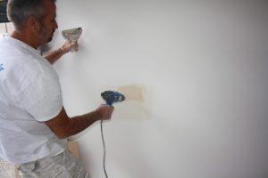 Plastering wall damage